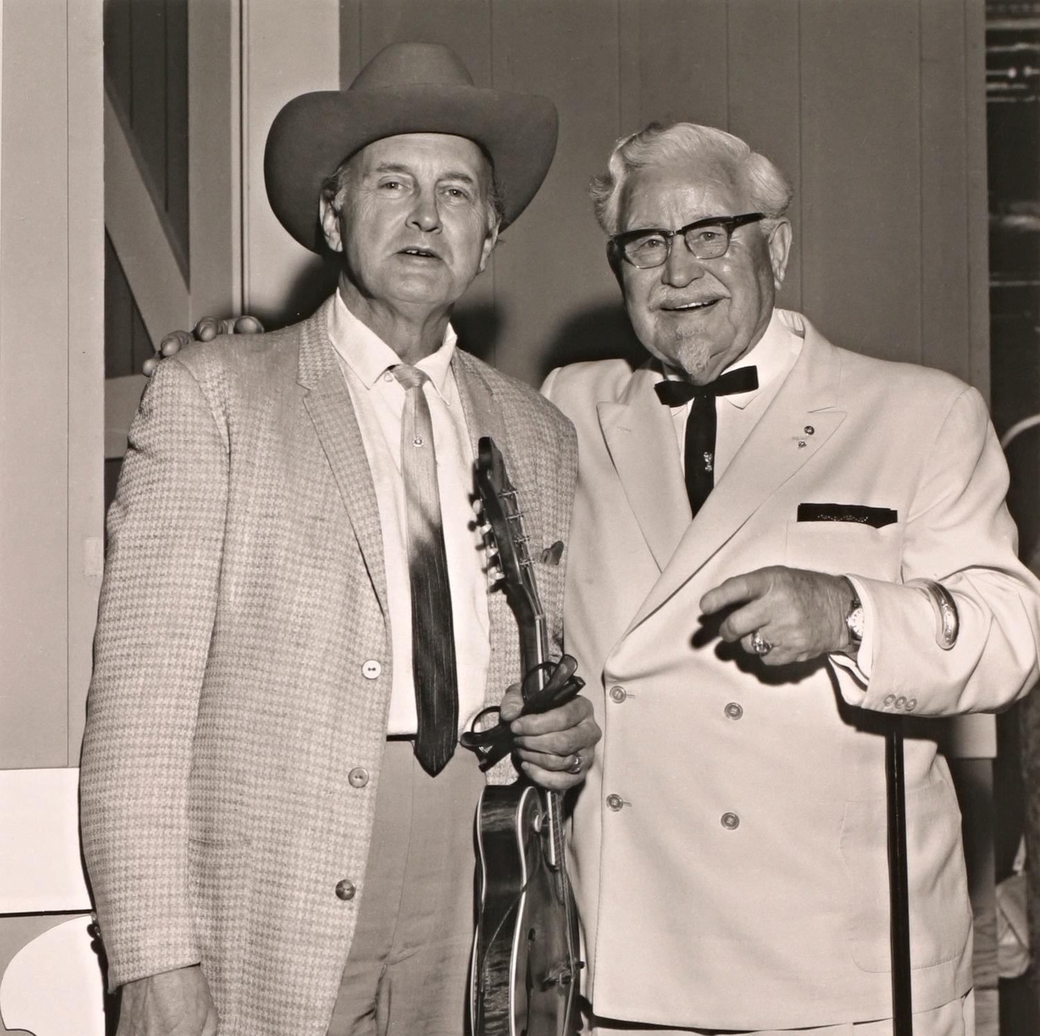 Bill Monroe with Colonel Sanders