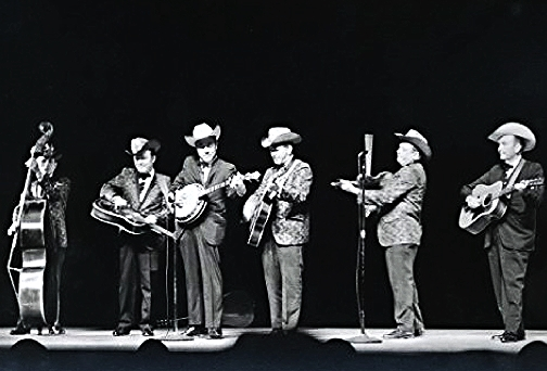 Lester Flatt and Earl Scruggs with the Foggy Mountain Boys at the Place des Arts, Montreal, Canada 1968.