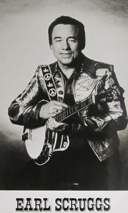 Promotional photo of Earl Scruggs created by Columbia Records.
